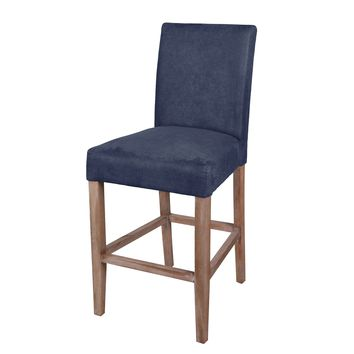 Borden Fabric Counter Stool Brushed Smoke Legs, Denim Slate