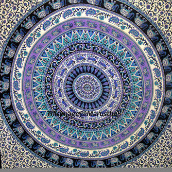 Indian Mandala Tapestry Hippie Wall Hanging Dorm Tapestries Gypsy Queen Bedspread Wall Decorative Art
