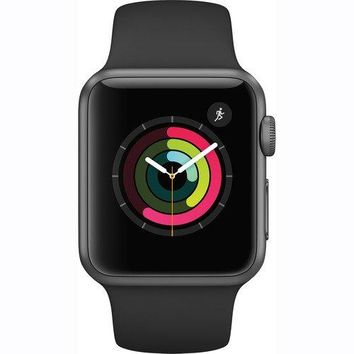 Apple Watch Series 1 Smartwatch 38mm, Space Gray Aluminum Case/ Black Sport Band (Newest Model) (Certified Refurbished)