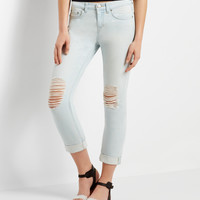 Aeropostale  Light Wash Destroyed Boyfriend Jean