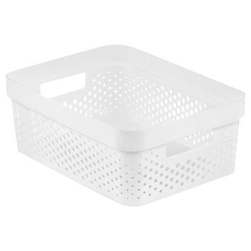 Room Essentials™ Resin Weave Half Storage Bin -White