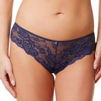 Sheer Lace Brazilian Panty Montelle Flirt Twilight