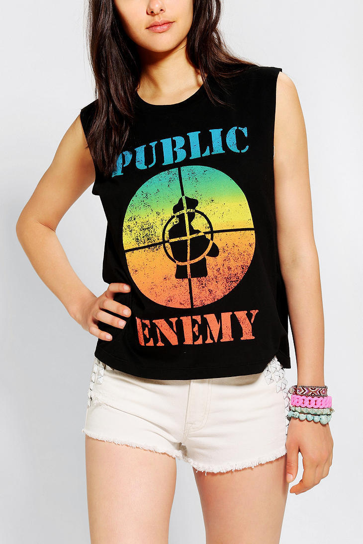 Urban Outfitters - Public Enemy Fight The Power Muscle Tee