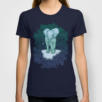 Emerald Elephant in the Lilac Evening T-shirt by micklyn