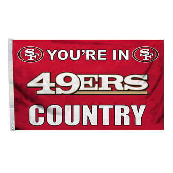 San Francisco 49ERS Country 3X5 Flag