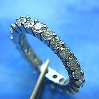 2.22ct Round Diamonds Eternity Wedding Ring Platinum JEWELFORME BLUE