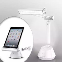 3 in 1 iPad and Tablet Stand with LED Lamp and Bluetooth Speaker