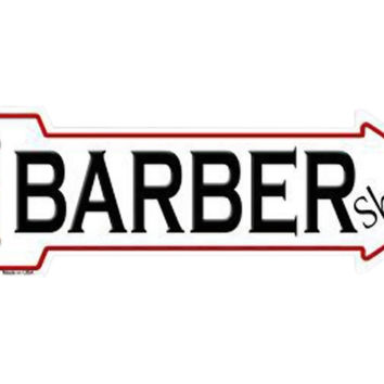 Smart Blonde Outdoor Decor Barber Shop Novelty Metal Arrow Sign A-153