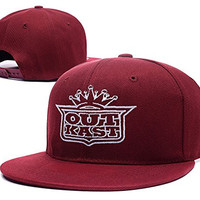 HAIHONG Outkast Band Logo Adjustable Snapback Embroidery Hats Caps - Red