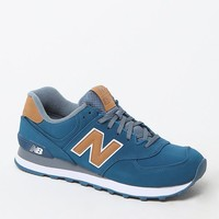 New Balance 574 Lux Shoes - Mens Shoes - Blue/Tan