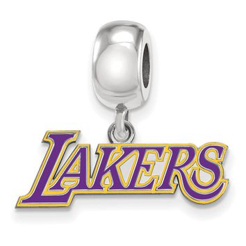 NBA Los Angeles Lakers Small Dangle Charm Bead in Sterling Silver