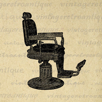 Digital Graphic Antique Barbers Chair Printable Download Image Illustration Vintage Clip Art for Transfers Printing etc HQ 300dpi No.2143