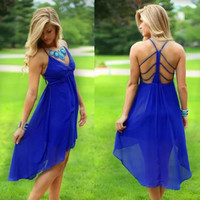 LM Boutique New Sexy Blue Dress Large 2 Day Free Shipping