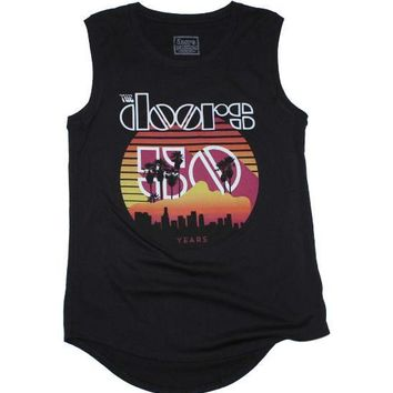 The Doors Sunset 50th Juniors Tank Top