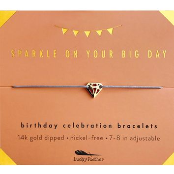 Birthday Celebration Bracelet - Sparkly Birthday