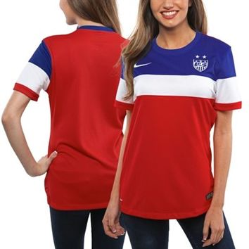 Nike US Soccer Ladies 2014/15 Away Replica Jersey - Red/White/Royal Blue
