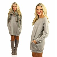 Girl Next Door Sweatshirt in Heather Grey