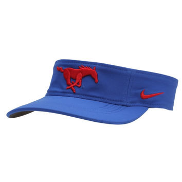 SMU Mustangs Nike Training Performance Visor – Royal Blue
