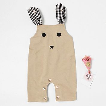High quality cute Newborn Infant Baby Boys Girls Strap Cartoon Piece Pants Warm soft Cotton Clothing Outfits lowest price 0-18M