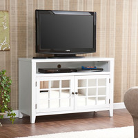 Southern Enterprises MS8345 Marston White TV/Media Stand