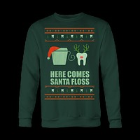 Ugly Christmas Sweatshirt Dentist Dental