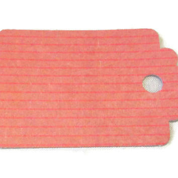 Dark Pink Pin Stripe Gift Tag Set of 28
