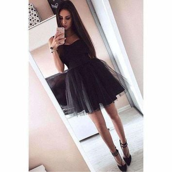 DCCKON3 dress women lace short dress prom evening party  sleeveless bralette top mesh ball gowm dresses  dress