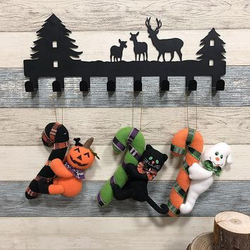 Halloween Decoration for Home Lovely Doll Pendant Door Wall Decor Hanging Drop Ornaments Cute Toy Black Cat Pumpkin Ghost Dolls
