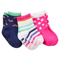 3-Pack Patterned Crew Socks