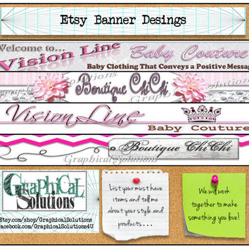 Custom Etsy Shop Design Banner Cover Image and Profile Picture Promotion Advertisement Design Small Business