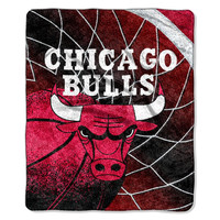 Chicago Bulls NBA Sherpa Throw (Reflect Series) (50x60)