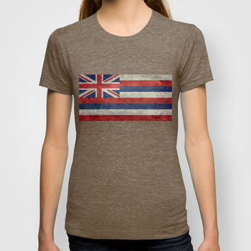 The State flag of Hawaii - Vintage version T-shirt by Bruce Stanfield