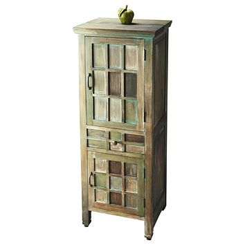 Antiqued Multi-Colored 2 Door / 1 Drawer Accent Cabinet by Butler Specialty 2063290