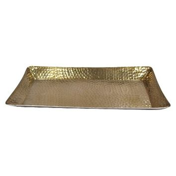 Threshold™ Metal Hammered Serving Tray - Gold