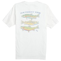 Speckled Trout Tee in Classic White by Southern Tide
