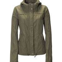 Aeropostale  Womens Solid Anorak - Green, X-Small