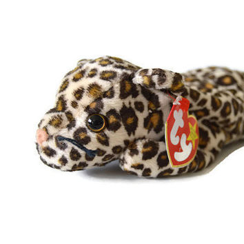 Free US Shipping, Ty Beanie Babies, Freckles The Leopard, Retired NWT, DOB June 3 1996, Vintage Stuffed Toy, Vintage Plush, Collectible