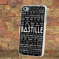 bastille lyric,bastille  -  Phone case for iPhone 4/5/5s/5c/6,/S3/S4/S5,ipod touch 5, Series.**