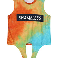 Shameless Rainbow Tie Dye Crop Top