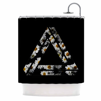 "Alias ""Impossible Daisy Chain"" Black Yellow Shower Curtain"