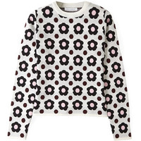 J.W. Anderson Green Floral Sweater