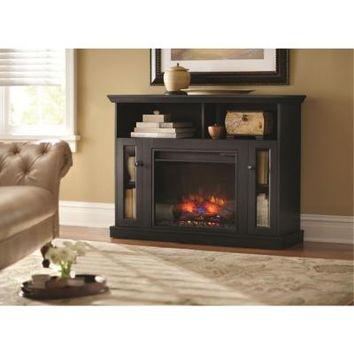 Home Decorators Collection Charles Mill 46 in. Convertible Media Console Electric Fireplace in Dark Cherry-85798 at The Home Depot