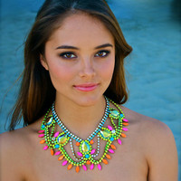 Neon Statement Necklace...Follow me for more:)