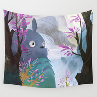 TOTORO Wall Tapestry by Youcoucou
