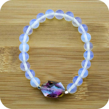 Opalite Yoga Jewelry Bracelet with Opalized Glass