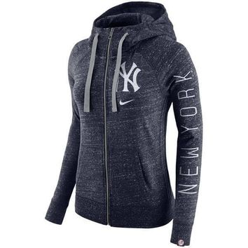 New York Yankees Women's Zip Up Hoodie