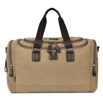 Canvas Trunk Men Women Travel Bags Carry on Luggage Foldable Purse Duffel Tote Large Big Shoulder Messenger Weekend Handbag