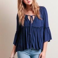 Lunar Embrace Tiered Top | Threadsence