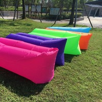 Lounger Fast Inflatable Sofa Outdoor Air Sleep Sofa Couch Portable Furniture Living Room Sofas for Summer Camping Beach Hammock