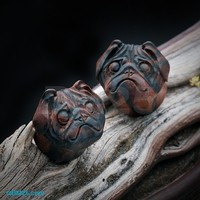 The Adorable Pug Double Flared Ear Gauge Plug